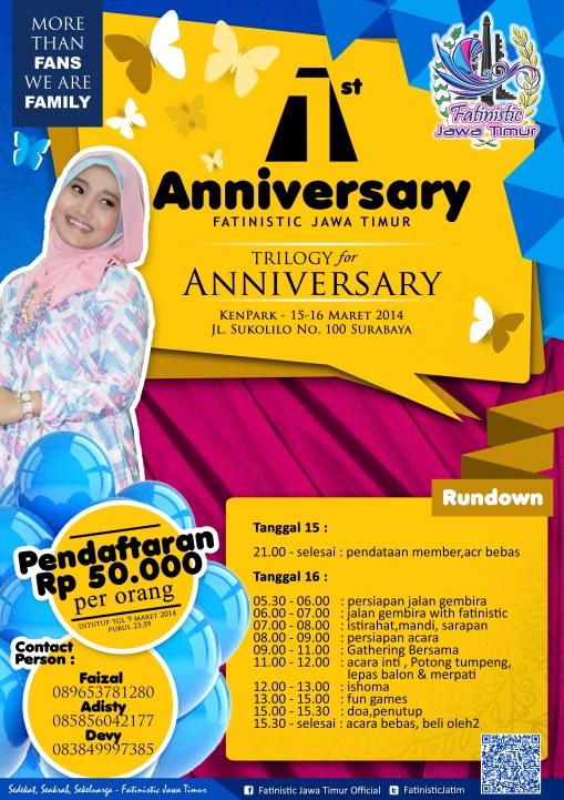 1st Anniversary Fatinistic Jawa Timur
